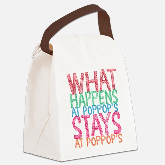 What Happens Poppop's Canvas Lunch Bag