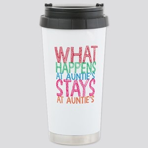 What Happens At Auntie' Stainless Steel Travel Mug