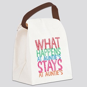 What Happens At Auntie's Canvas Lunch Bag