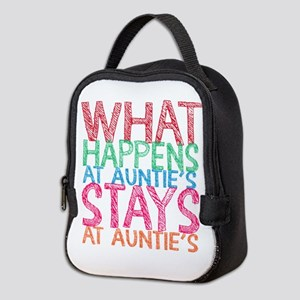What Happens At Auntie's Neoprene Lunch Bag