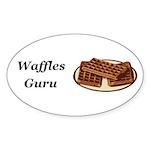 Waffles Guru Sticker (Oval 50 pk)