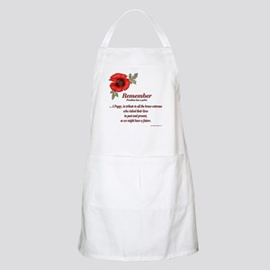 Remember Poppy BBQ Apron