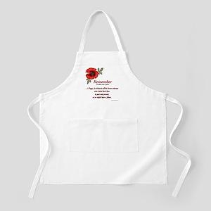 Remember Poppy BBQ Apron