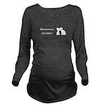 Romance Junkie Long Sleeve Maternity T-Shirt