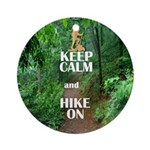 Keep Calm and Hike On Ornament (Round)