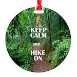 Keep Calm and Hike On Ornament