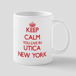 Keep calm you live in Utica New York Mugs