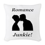 Romance Junkie Woven Throw Pillow