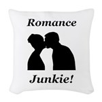 Romance Junkie Woven Throw Pillow