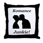 Romance Junkie Throw Pillow