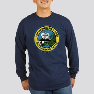 Shuttle Landing Facility Long Sleeve Dark T-Shirt