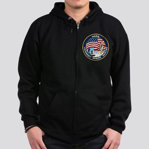 Kennedy Space Center Zip Hoodie (dark)