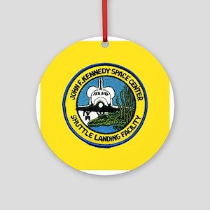 Shuttle Landing Facility Ornament (Round)
