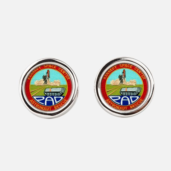Pad Rescue Team Round Cufflinks