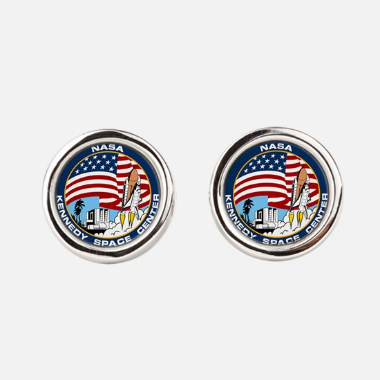 Kennedy Space Center Round Cufflinks