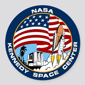 Kennedy Space Center Round Car Magnet