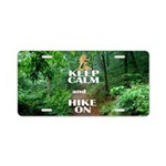 Keep Calm and Hike On Aluminum License Plate