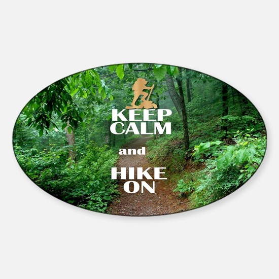 Keep Calm and Hike On Decal