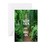 Keep Calm and Hike On Greeting Cards