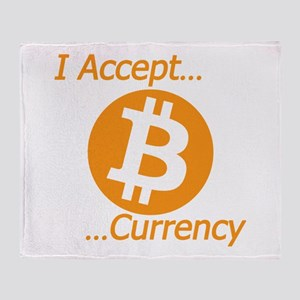 Type 2 I Accept Bitcoin Currency Throw Blanket