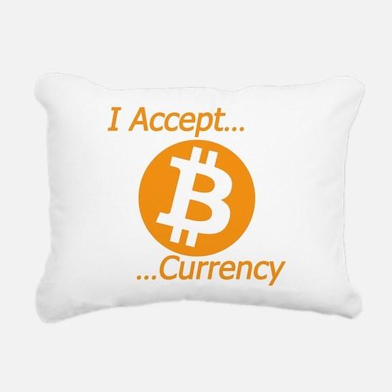 Type 2 I Accept Bitcoin Rectangular Canvas Pillow