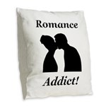 Romance Addict Burlap Throw Pillow