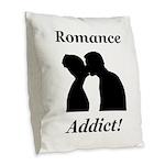 Romance Addict Burlap Throw Pillow