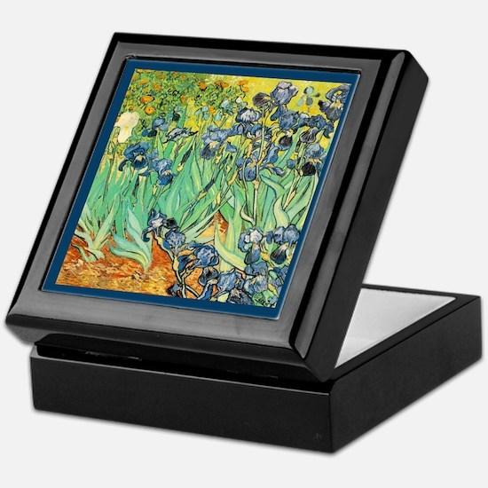 Vincent VanGogh Irises Keepsake Box