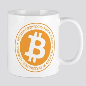 Type 1 Bitcoin Logo Mugs