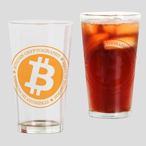 Type 1 Bitcoin Logo Drinking Glass