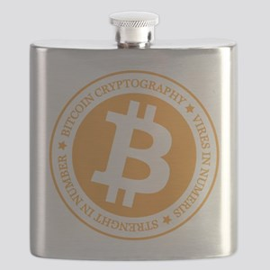 Type 1 Bitcoin Logo Flask