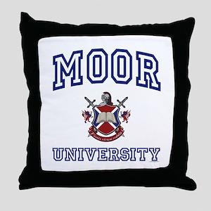 MOOR University Throw Pillow
