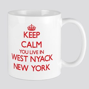 Keep calm you live in West Nyack New York Mugs