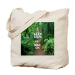 Keep Calm and Hike On Tote Bag