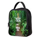 Keep Calm and Hike On Neoprene Lunch Bag