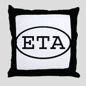 ETA Oval Throw Pillow