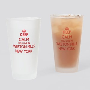 Keep calm you live in Weston Mills Drinking Glass