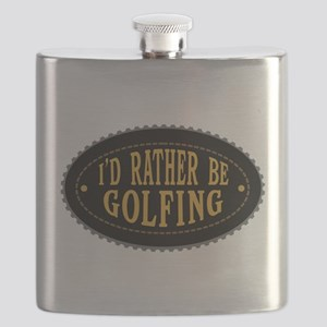 I'd Rather Be Golfing Flask