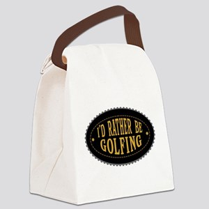 I'd Rather Be Golfing Canvas Lunch Bag