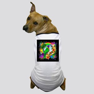 Rainbow Lorikeet Parrot Art Dog T-Shirt