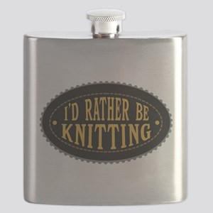 I'd Rather Be Knitting Flask