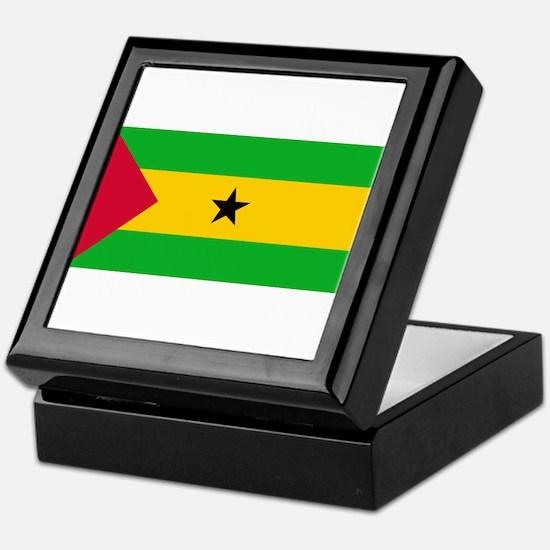 Sao Tome and Principe Flag Keepsake Box