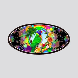 Rainbow Lorikeet Parrot Art Patches