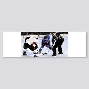 Ice Hockey Players and Referee Bumper Sticker