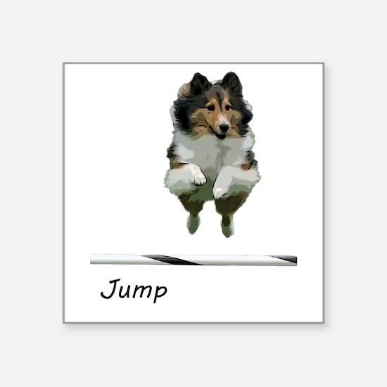 Sheltie Jump Sticker