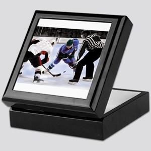 Ice Hockey Players and Referee Keepsake Box