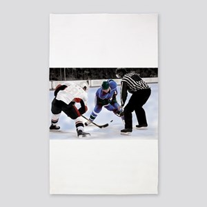 Ice Hockey Players and Referee Area Rug