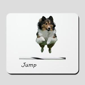 Sheltie Jump Mousepad