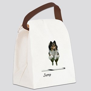 Sheltie Jump Canvas Lunch Bag
