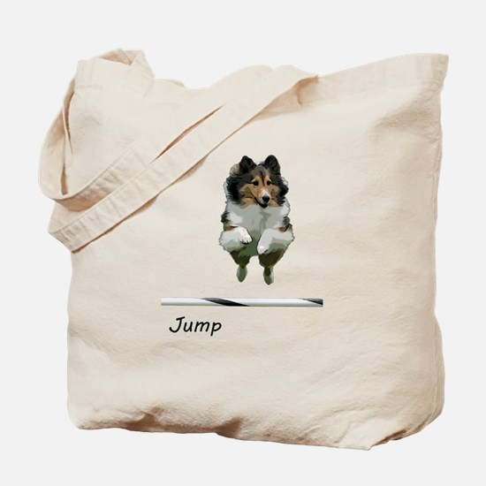 Sheltie Jump Tote Bag